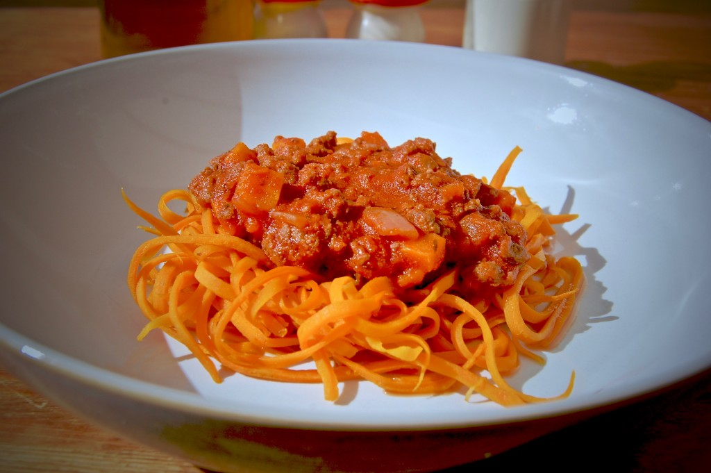 Bolognese & Sweet Potato Noodles