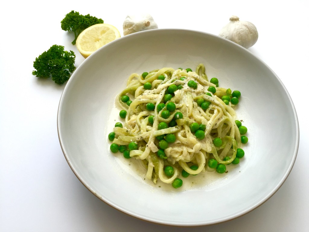 Creamy Courgetti with Peas